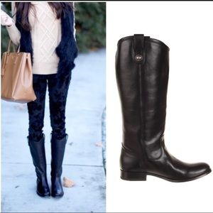 FRYE | Melissa button riding boot 9 leather